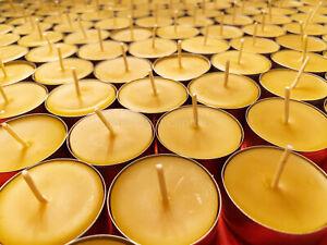 🐝 Beeswax Tealights BULK 100% Pure Candles / USA Honey Tea Lights / Aluminum 🐝