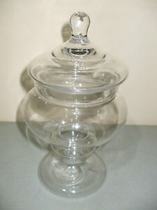 Medium Footed Clear Glass Apothecary Jar Terrarium Wedding!