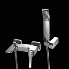 MAIER Skip SQUARE CRYSTAL DIAMOND SWAROVSKI ® rubinetto miscelatore doccia bagno supporto per tubo