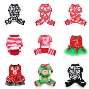 winter warm clothes pet puppy dog cat jumpsuit christmas cosplay
