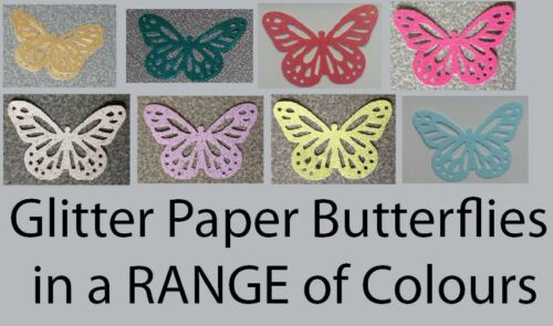 Papillons (Monarch) paillettes papier poinçons! 30 pièces multi annonce!