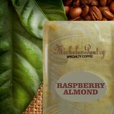 Decaf. Raspberry Almond Flavored Coffee 2 10 oz. Bags Ground Drip