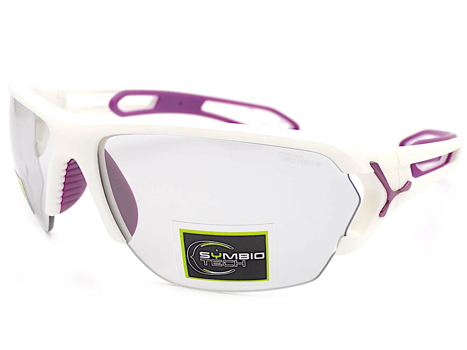 Cebe S'Track Groß Licht Empfindlich Sonnenbrille Matt Weiß Variochrome Cbstl14