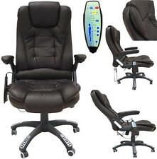 rio brown luxury reclining executive office desk chair faux leather