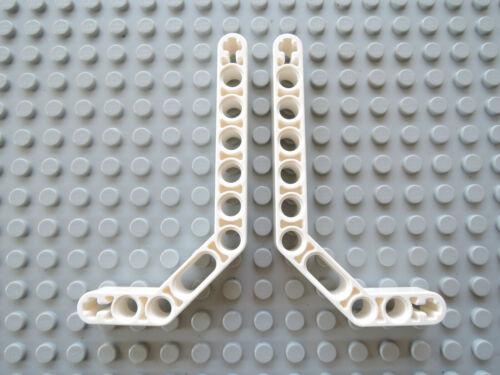Lego 2 x Technic liftarm 1x11.5 doble curvadas 32009 blanco 9748 9398 8448