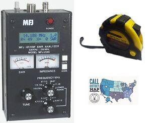 MFJ-259C-HF-VHF-Antenna-SWR-RF-Analyzer-w-Meters-w-FREE-Radiowavz-Antenna-Tape