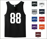 Number 88 Eighty Eight Sports Number Jersey Tank Top Front Print