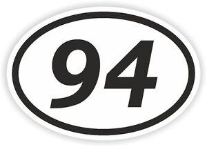 94-ninety-four-NUMERO-OVALE-ADESIVO-PARAURTI-ADESIVI-MOTO-DA-CROSS-Adesivo