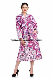 Image is loading Indian-Ombre-Mandala-Bath-Robe-Kimono-Sleepwear-Cotton- 3e523968a