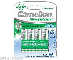 4-x-Camelion-AA-HR6-NiMH-Mignon-600mAh-Akku-Blister-Always-Ready-Solar-17406406