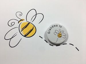 Nana to be Bumble Bee Cute Baby Shower Announcement Gift Button Badge 38mm