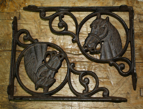 Garden Braces PONY Shelf Bracket 10 Cast Iron WESTERN Style HORSE HEAD Bracket