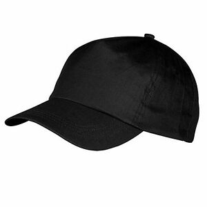 CAPPELLO Cappellino NERO con VISIERA Precurvata BLACK Baseball UNISEX Hat CURVO