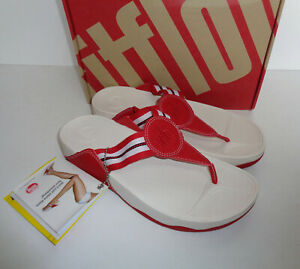 4ef3cded1f06 FitFlop New Ladies Women s Walkstar Slide Toe Post Red Sandals RRP ...