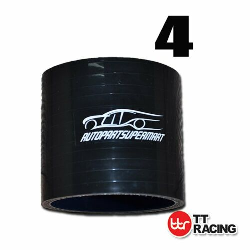 """4/"""" Black 4-ply Silicone Straight Coupler Turbo Hose Pipe couplings 102mm"""