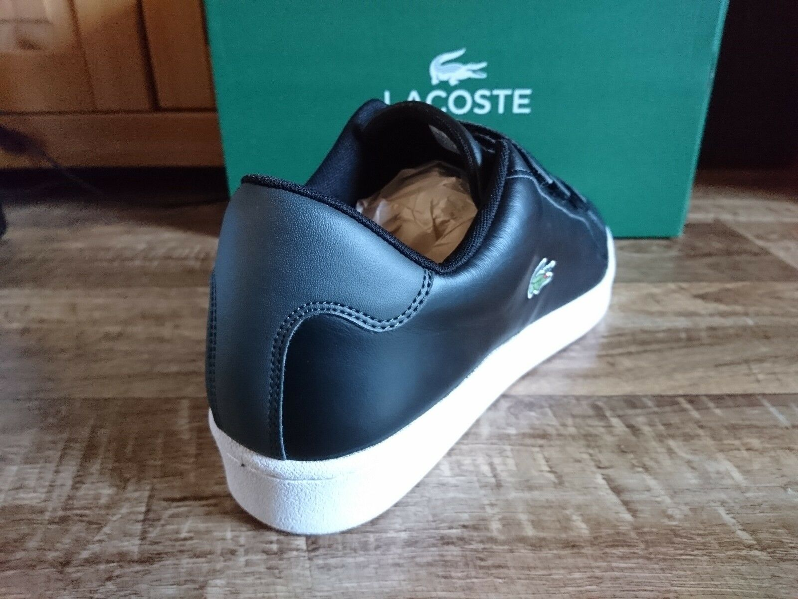 Lacoste 1 Camden New Cup S216 1 Lacoste  Herren Schuhe Sneaker Leder Schwarz NEU ad5bd3
