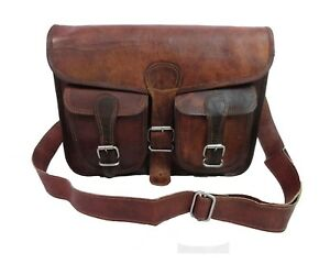 17-034-Vintage-Leder-Messenger-Tasche-Laptop-Rucksack-Business-School-Crossbody-Tasche