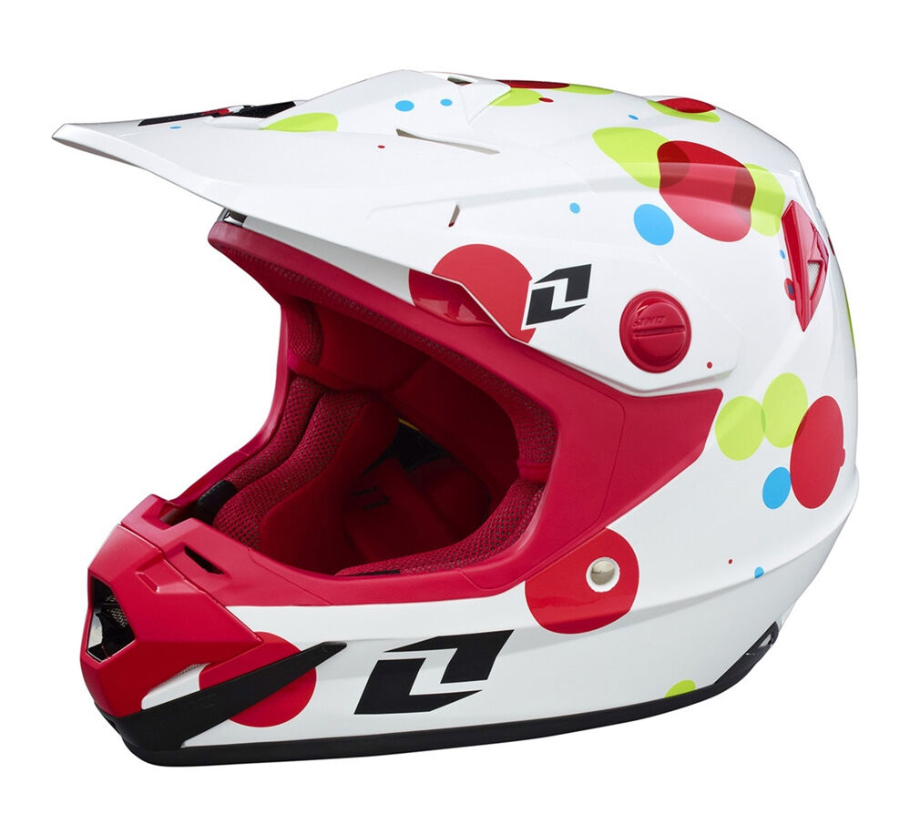 Kinder Jugend One One One Industries Atom Fizzle Mx Motocross mit Mips Helm Weiß Quad 7fa492