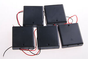 4 x AA 6V Battery Holder Connector Storage Case Box ON//OFF Switch With Lead