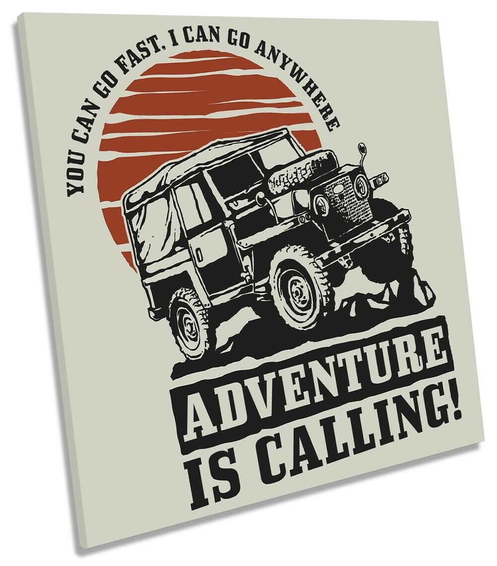 Off Road 4x4 Truck Picture CANVAS WALL ART Square Print