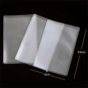 10X-PVC-Kreditkarteninhaber-Schuetzen-ID-Karte-Visitenkarte-Abdeckung-Klar-MattZP
