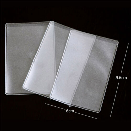 10X PVC Credit Card Holder Protect ID Card Business Card Cover Clear Frosted DSU