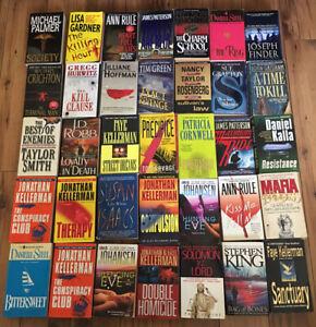 Lote de 20 Suspenso Thriller Crimen libro en rústica de ficción de misterio Libros ALEATORIO MIX LOTE