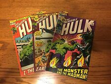 3 Vintage Incredible Hulk Marvel Comics # 144, 146, 149