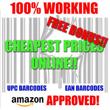 2,500 UPC Barcodes Numbers Bar Code Number 2500 EAN Amazon Approved!!