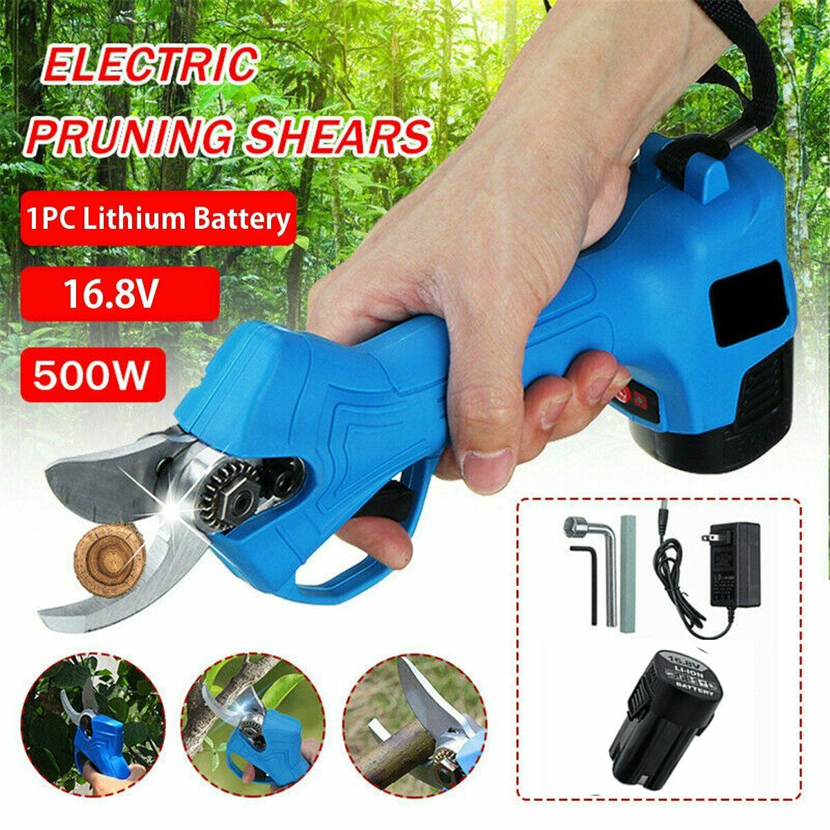 Electric Pruning Pruner Shears Cutting Tool Trimmer Garden Tree Nursery Grafting