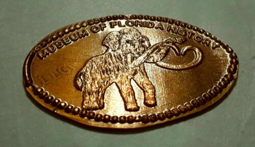 Mastodon Pressed Elongated Penny Coin Copper Museum of Florida History