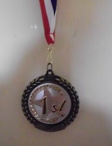 Details about 1ST FIRST PLACE MEDAL MEDALLION AWARD RIBBON FULL COLOR  PERSONALIZED FREE
