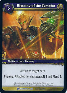 WOW WARCRAFT TCG ARCHIVES FOIL BLESSING OF WISDOM FOIL X 4