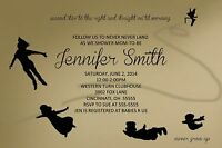 Peter Pan Baby Shower Invitation Boy Girl Neutral Any Colors