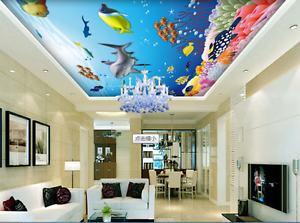 3D Hai Koralle 743 Fototapeten Wandbild Fototapete BildTapete Familie DE Kyra