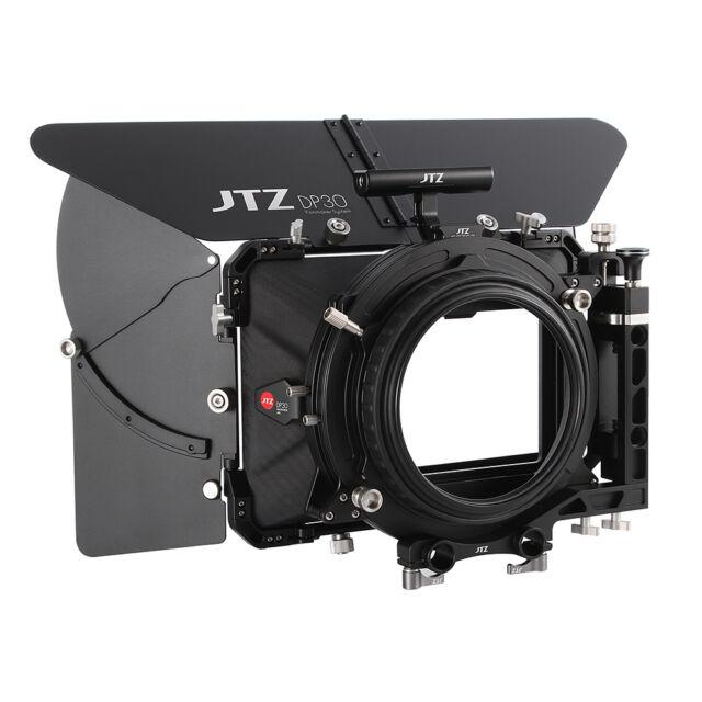 """JTZ DP30 Carbon Fiber 4x5.65"""" Matte Box 15mm 19mm Fr Sony A7 ARRI RED CANON DSLR"""