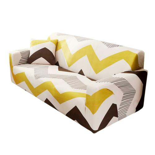 1-4 Seaters Printing Sofa Cover Cloth Spandex Stretch Wrap Slipcover Cushion Mat