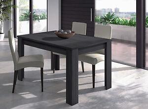 Tavolo cucina salotto allungabile 6 posti design moderno rovere ...