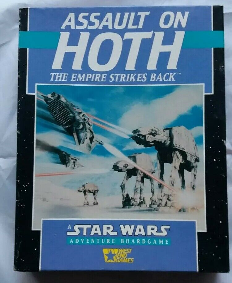 stjärna Wars Adventure Boardspel , överfall på varmh.Sällsynt 1988 årgångspel.Mint.