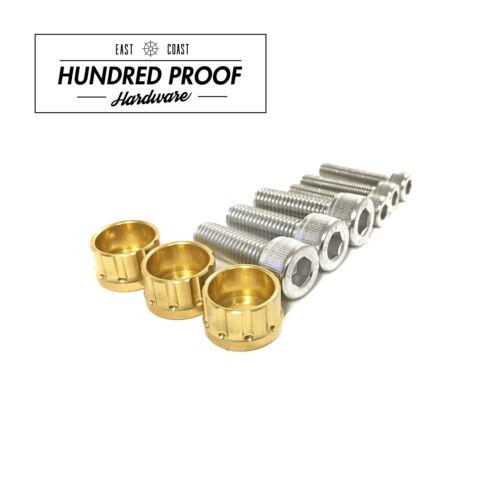 HUNDRED PROOF HARDWARE D15b D16 D16z6 Distributor Bolt Kit Honda Acura Gold