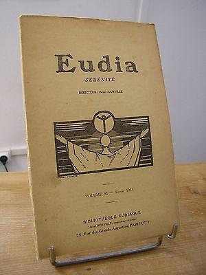 EUDIA volume XI 1933 Henri Durville n°62