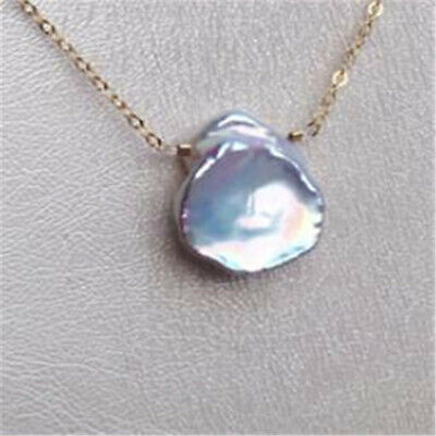15-18MM Multi-Color Freshwater Petal Baroque Pearl Pendant Necklace AAA light