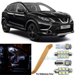 Para-Nissan-Qashqai-J11-2013-2018-Led-Interior-Premium-Kit-8-SMD-Bombillas-Hid-Blanco