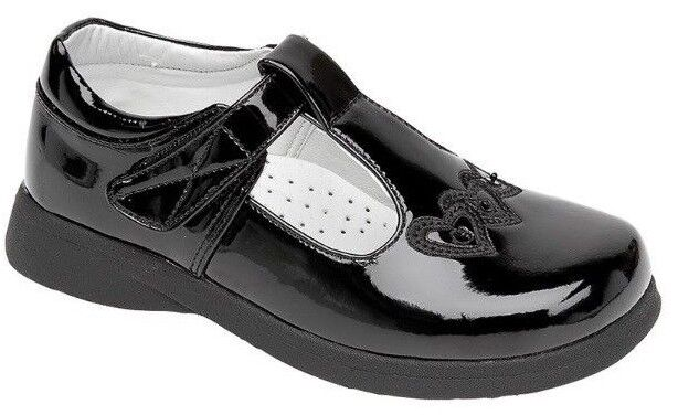 Matt Patent Black School Shoes