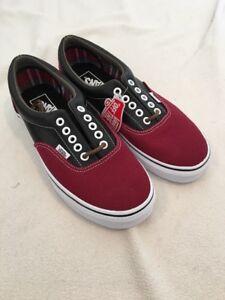 0e55514835 Image is loading Vans-Era-Leather-Plaid-Rhubarb-Black-Shoes-Mens-