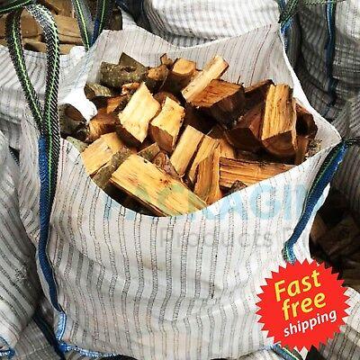 VENTED FIREWOOD LOG BULK BAGS 90x90x90cm VENTILATED WOVEN WPP SACK 1000KGS