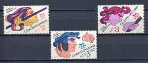 33246-Checoslovaquia-1976-MNH-Olympic-G-Montreal-3v