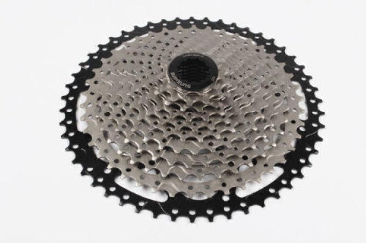 Sunshine Bicicleta de Montaña Bici Bicicleta 11 velocidades ciclismo ruedas libres volante de inercia Cassette 11-50 T