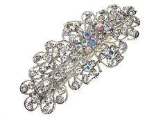Floral Crystal Cluster Barrette Hair Clip Slide Hair Accessories UK