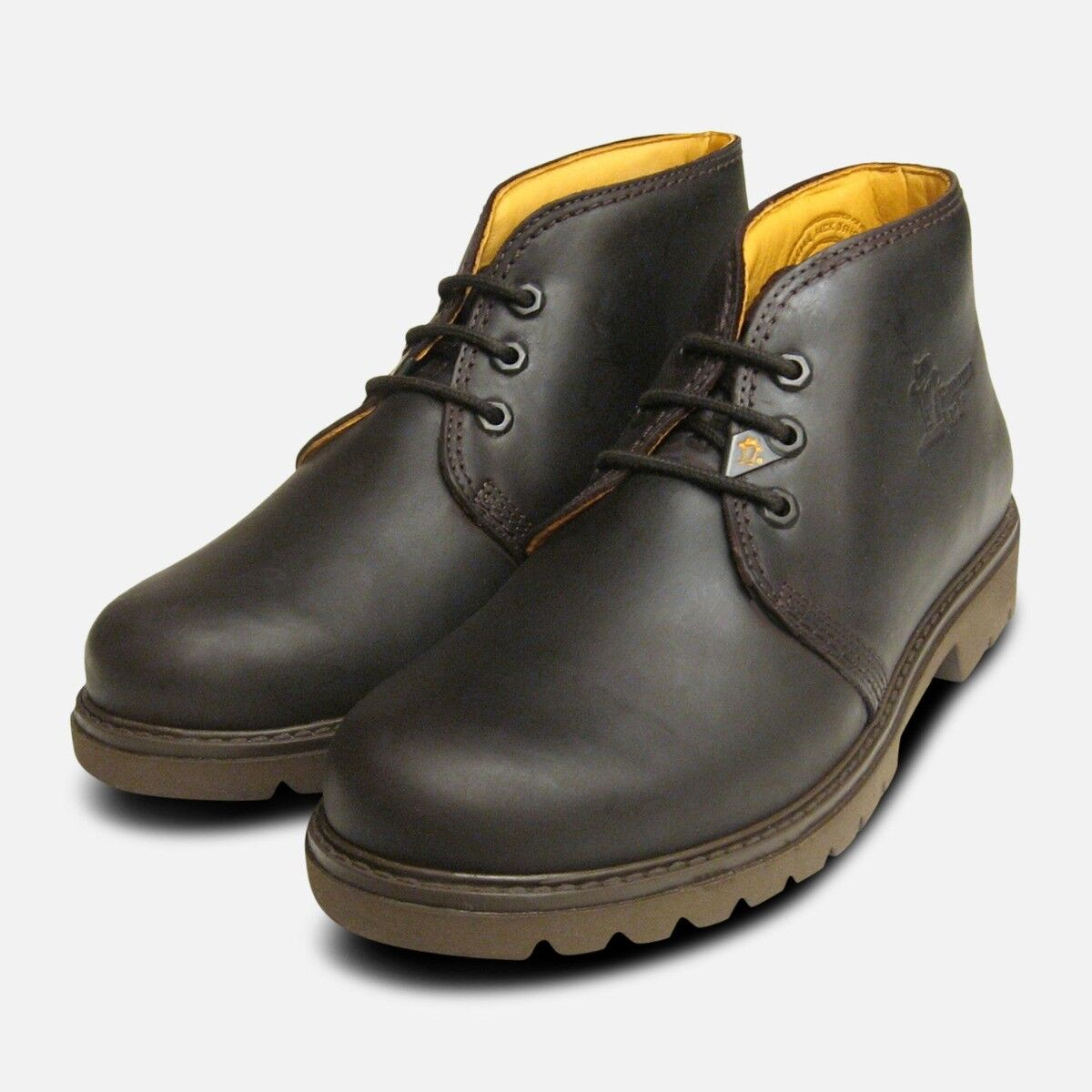 Mr Panama Jack Dark Brown Waxy Waterproof Havana Joe Boots